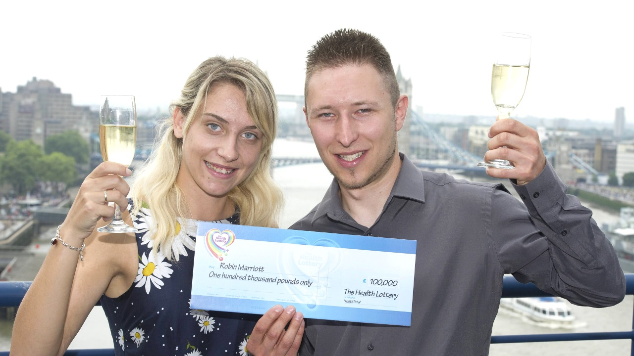 Caravan Engineer Robin Marriott bags £100,000 prize on The Health Lottery