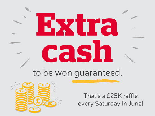 Extra cash to be won guaranteed