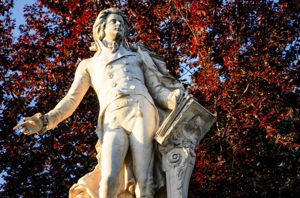 statue of mozart - get lottery tickets online