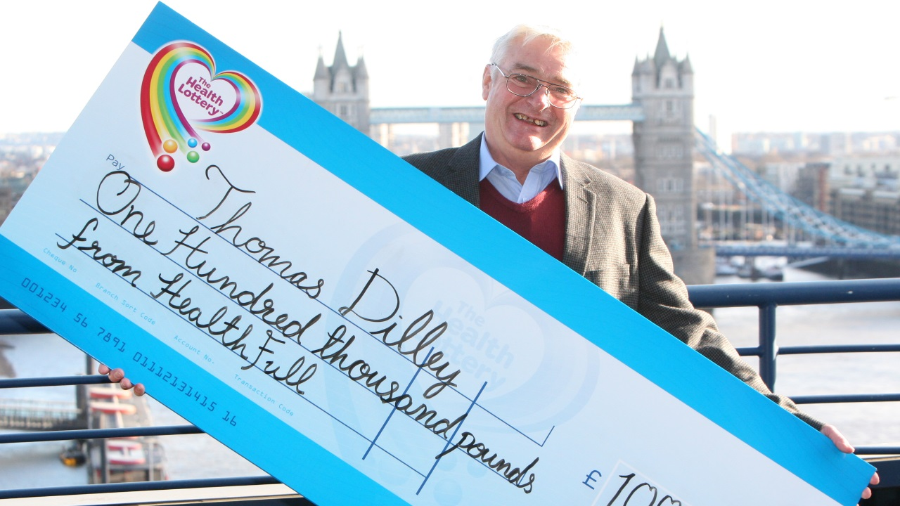 Thomas Dilley from Luton wins £100,000