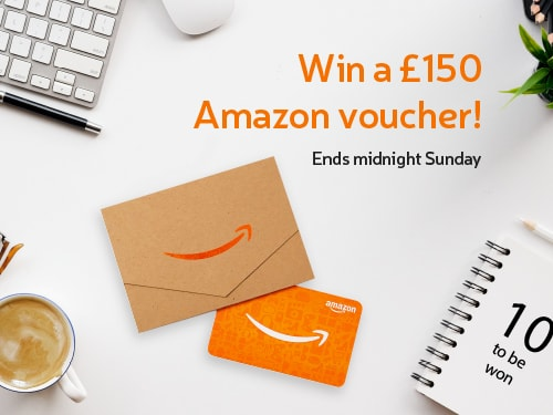 Win a £150 Amazon Voucher! Just spend £10 or more. Ends midnight Sunday! 10 to be won.