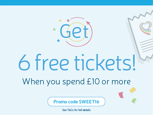 Spend 10 pounds in charity lottery get 6 free tickets