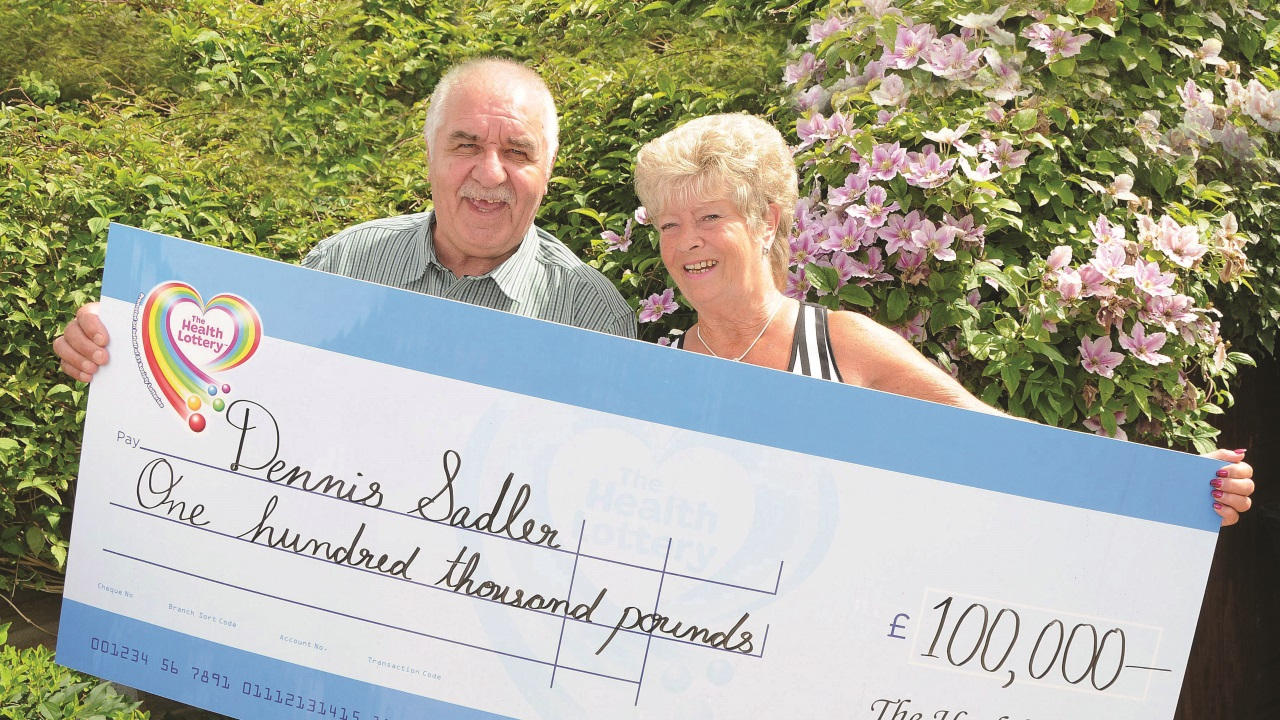 Great-Grandfather Dennis Sadler scoops £100,000 on The Health Lottery