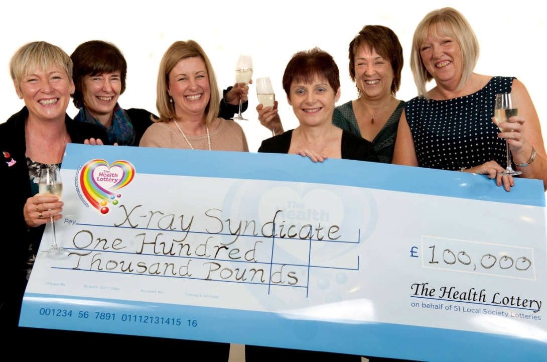 Hospital syndicate in awe after landing £100,000 on The Health Lottery