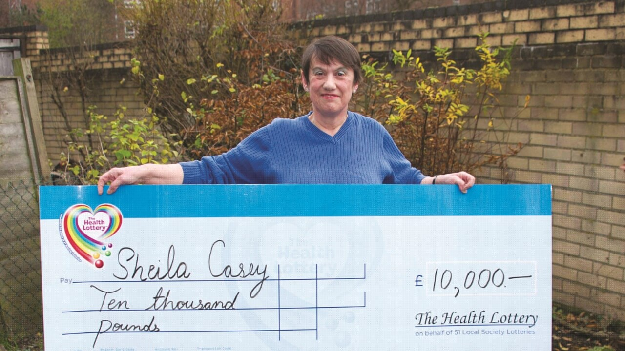 Sheila Casey wins £10,000 on The Health Lottery