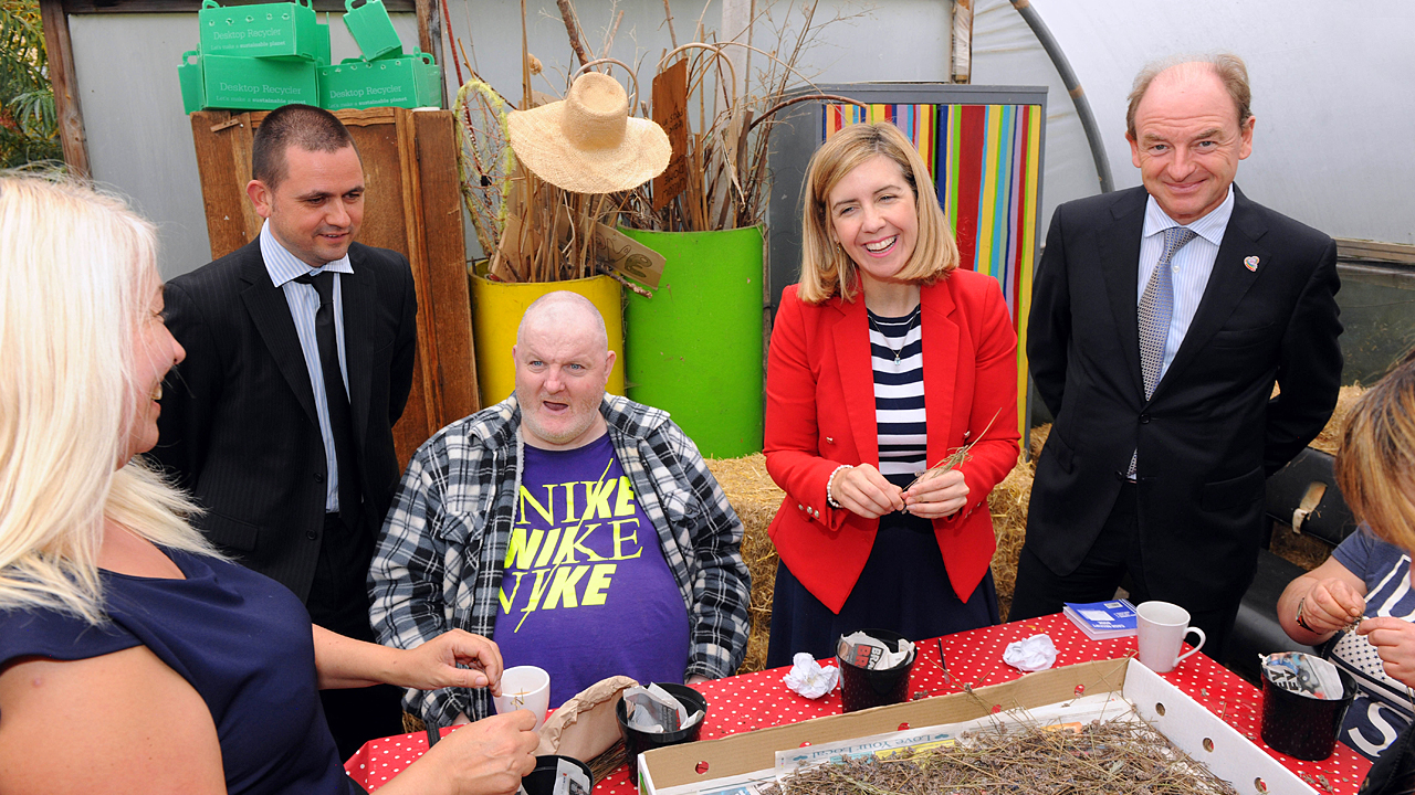 Andrea Jenkyns, MP for Morley and Outwood in West Yorkshire, helped service users grow lavender bushes at Hulme Community Garden Centre in inner-city Manchester.