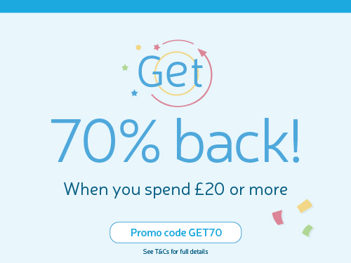 Spend 20 pounds in charity lotto get cashback