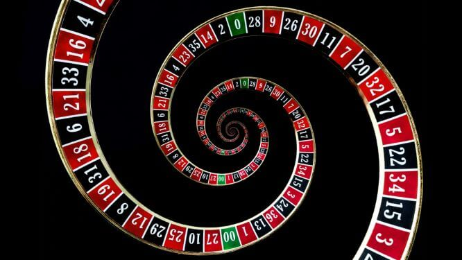 Roulette wheel spiraling out of control. UK lottery providers and others support responsible gambling