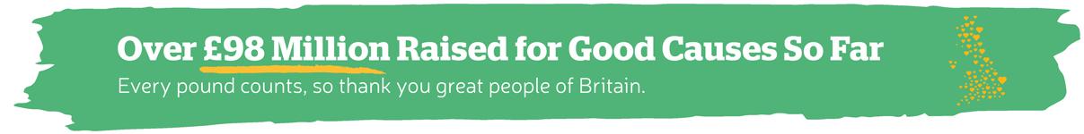 Over £98 Million Raised for Good Causes So Far